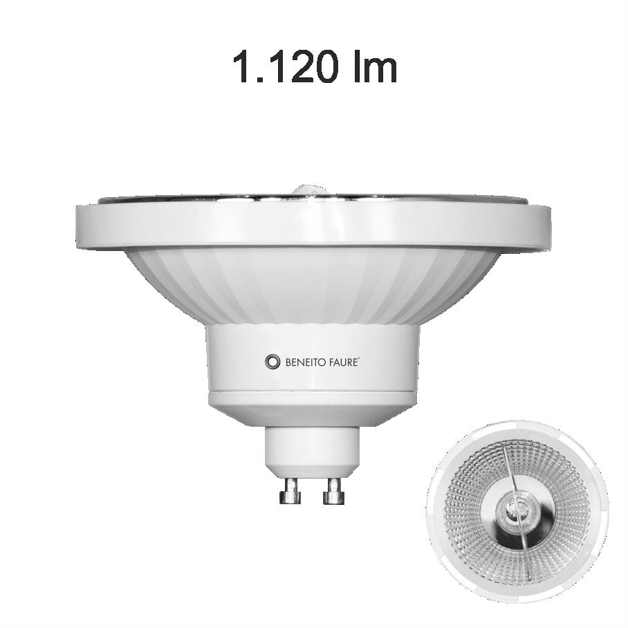 livraison gratuite ampoule beneito faure led es111 gu10 230v 15w blanc chaud 2700k 1050 lumens. Black Bedroom Furniture Sets. Home Design Ideas