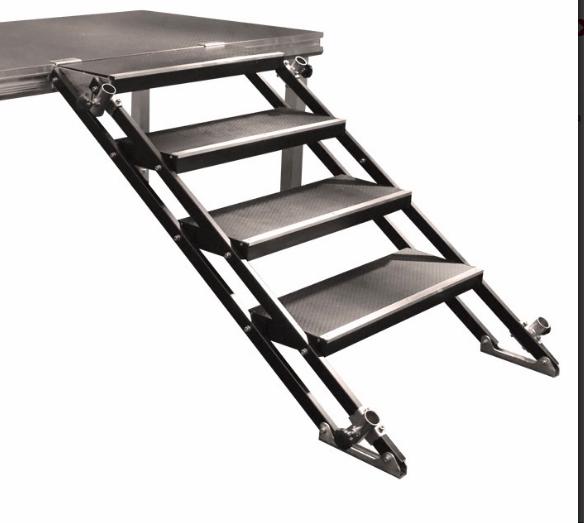 escalier de sc ne 3 marches pour praticable 60 100. Black Bedroom Furniture Sets. Home Design Ideas