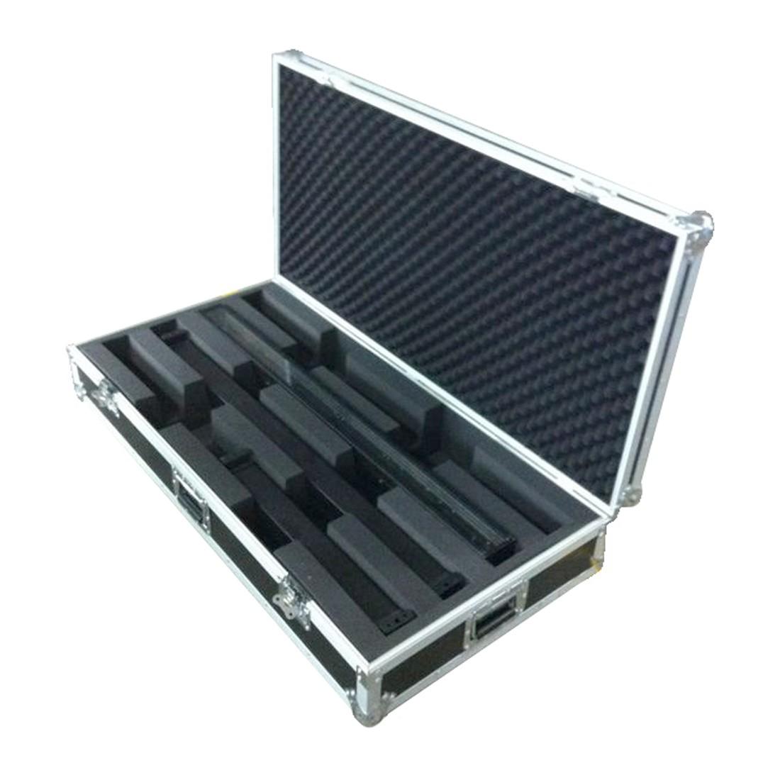 livraison gratuite flight case pour 4 barres led longueur max 115mm flight clairages prozic. Black Bedroom Furniture Sets. Home Design Ideas