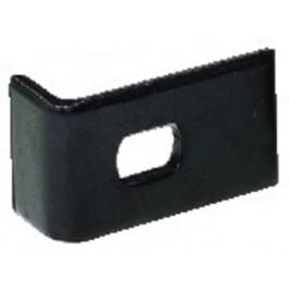 Patte de fixation acier noir  pour grille de HP 20X38 mm