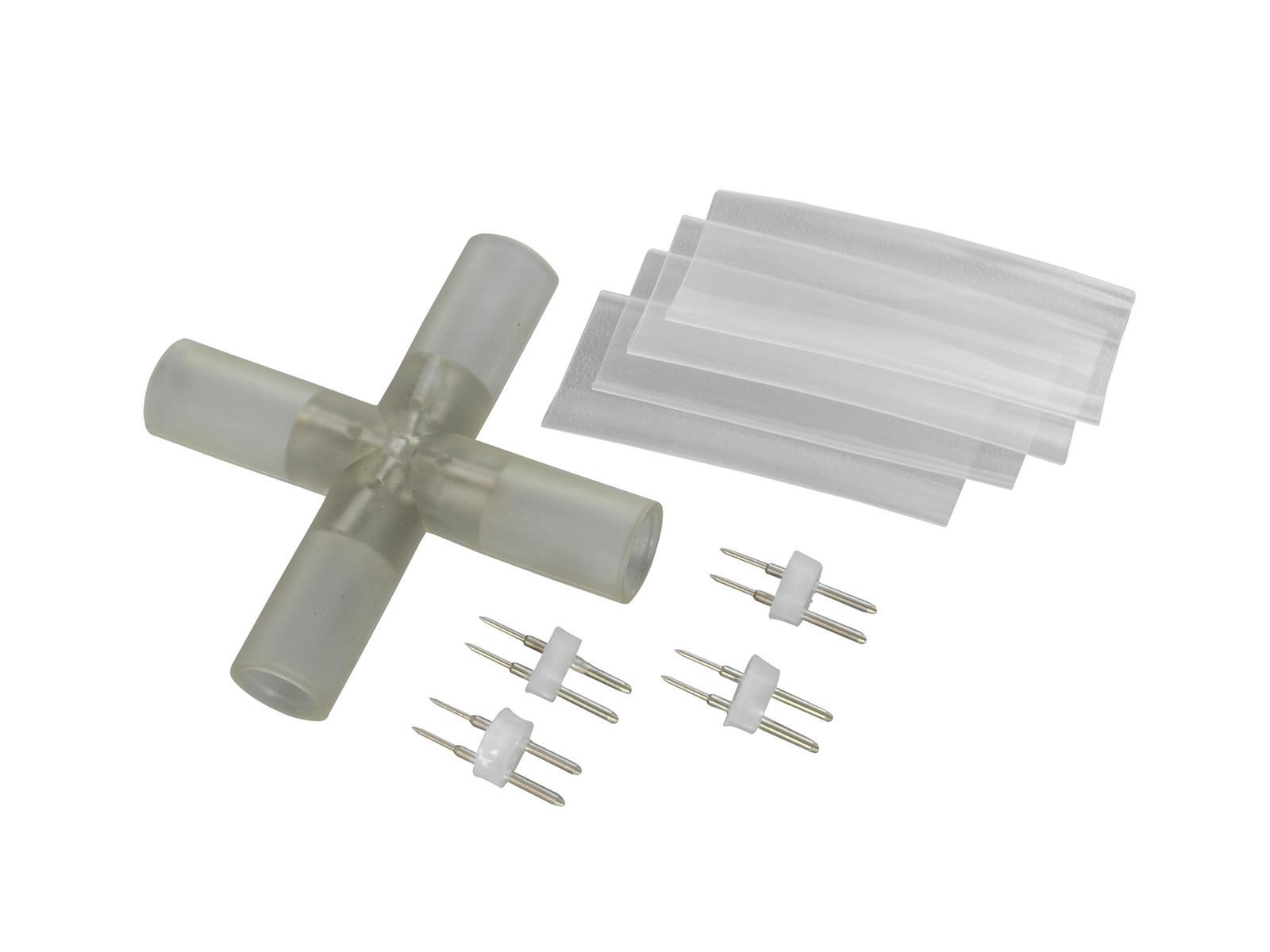 Connecteur pour 4 raccordements en croix flexible lumineux