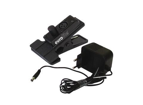 Pince pour flexible d'éclairage de console sur Fiche XLR avec alim variable