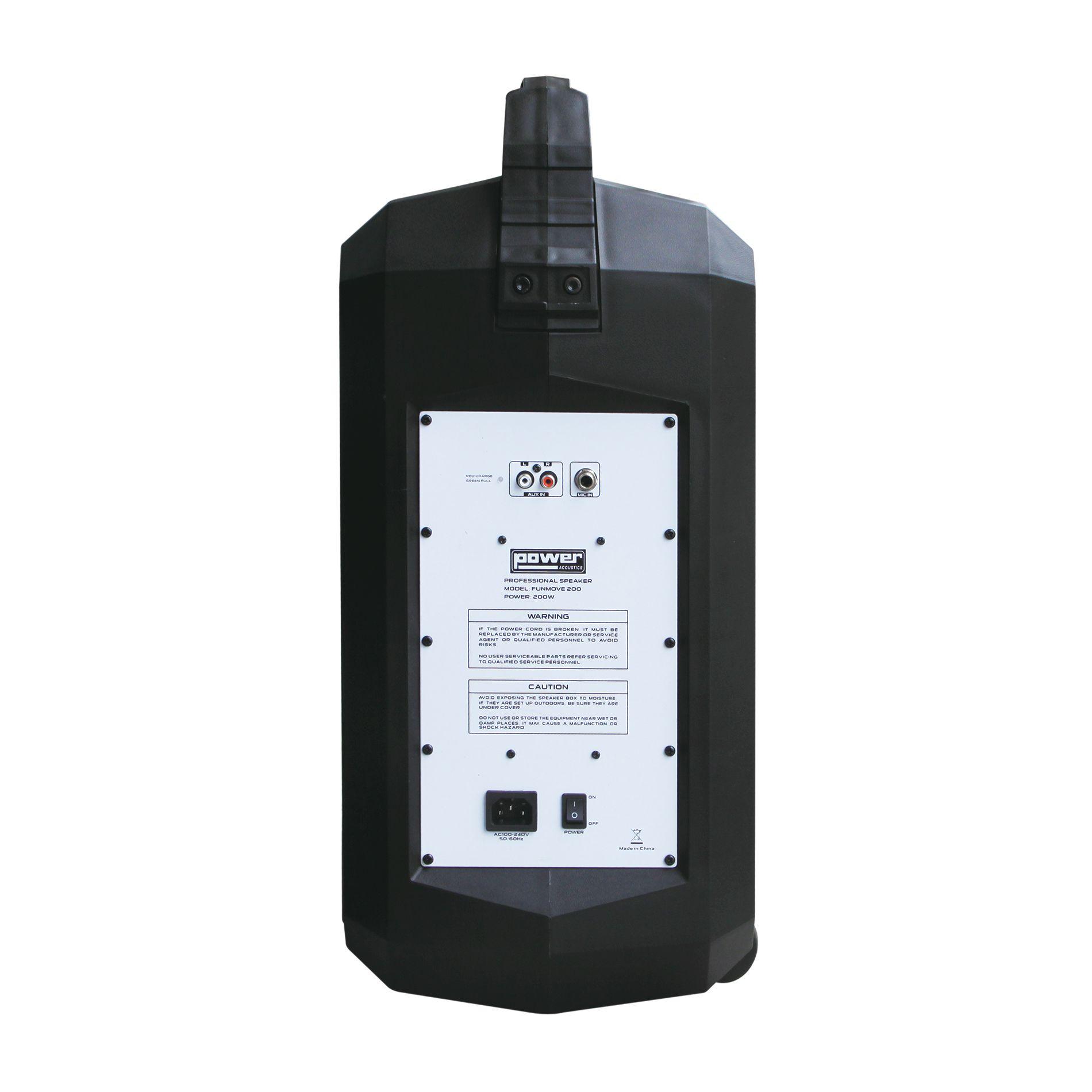 Sur Power Acoustics 200 Autonome Puissance 200w Enceinte Funmove Batterie sxhtQrdC
