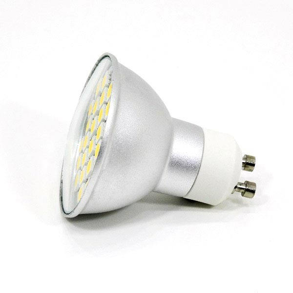 Gu10 Lampe Blanc 230v 120° Chaud Led 3w Aluminium drCBxoe
