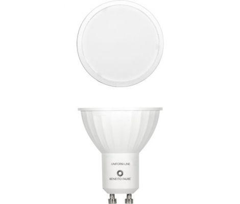 livraison gratuite ampoule beneito faure led uniform line gu10 230v 6w blanc neutre 4000k 120. Black Bedroom Furniture Sets. Home Design Ideas