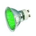 Lampe à led verte GU10 230v 1W