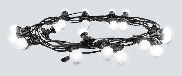 Guirlande guinguette Chauvet LCH FESTOON programmable DMX 20 ampoules à changement de couleur