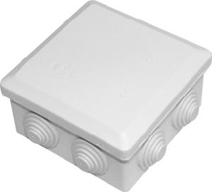 Boite de dérivation carrée 10cm de côté 5,5cm de profondeur type plexo