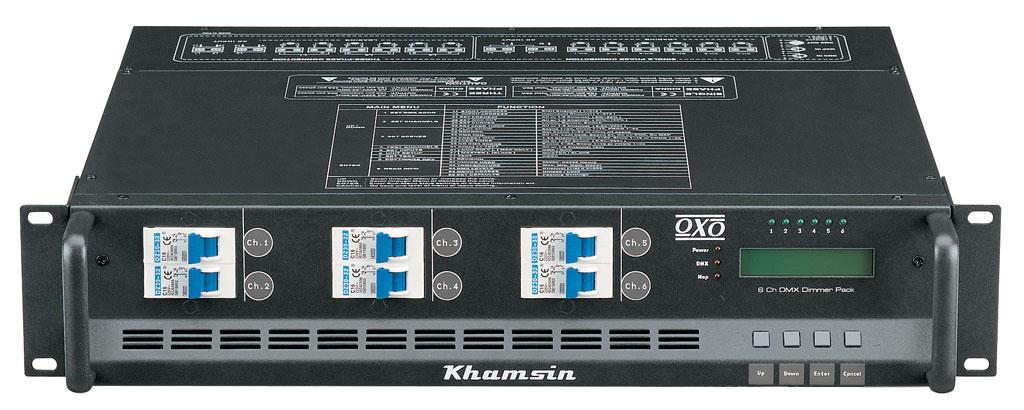 Bloc de puissance OXO Khamsin 6 canaux 3.7KW 16A sur prises françaises