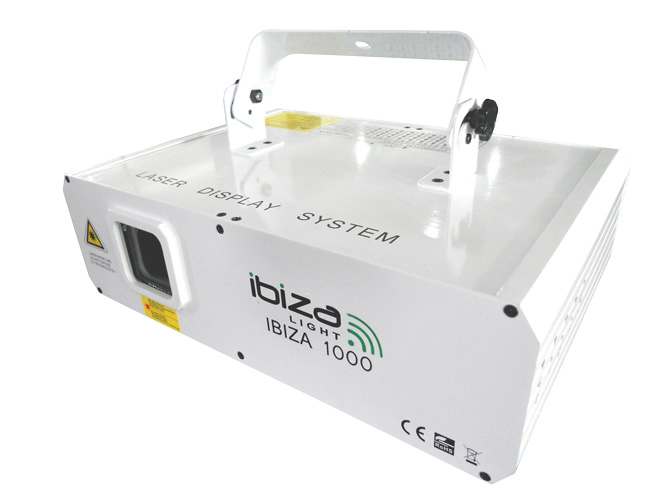 Laser Ibiza 1000 RVB 1W  12 canaux DMX  et ILDA