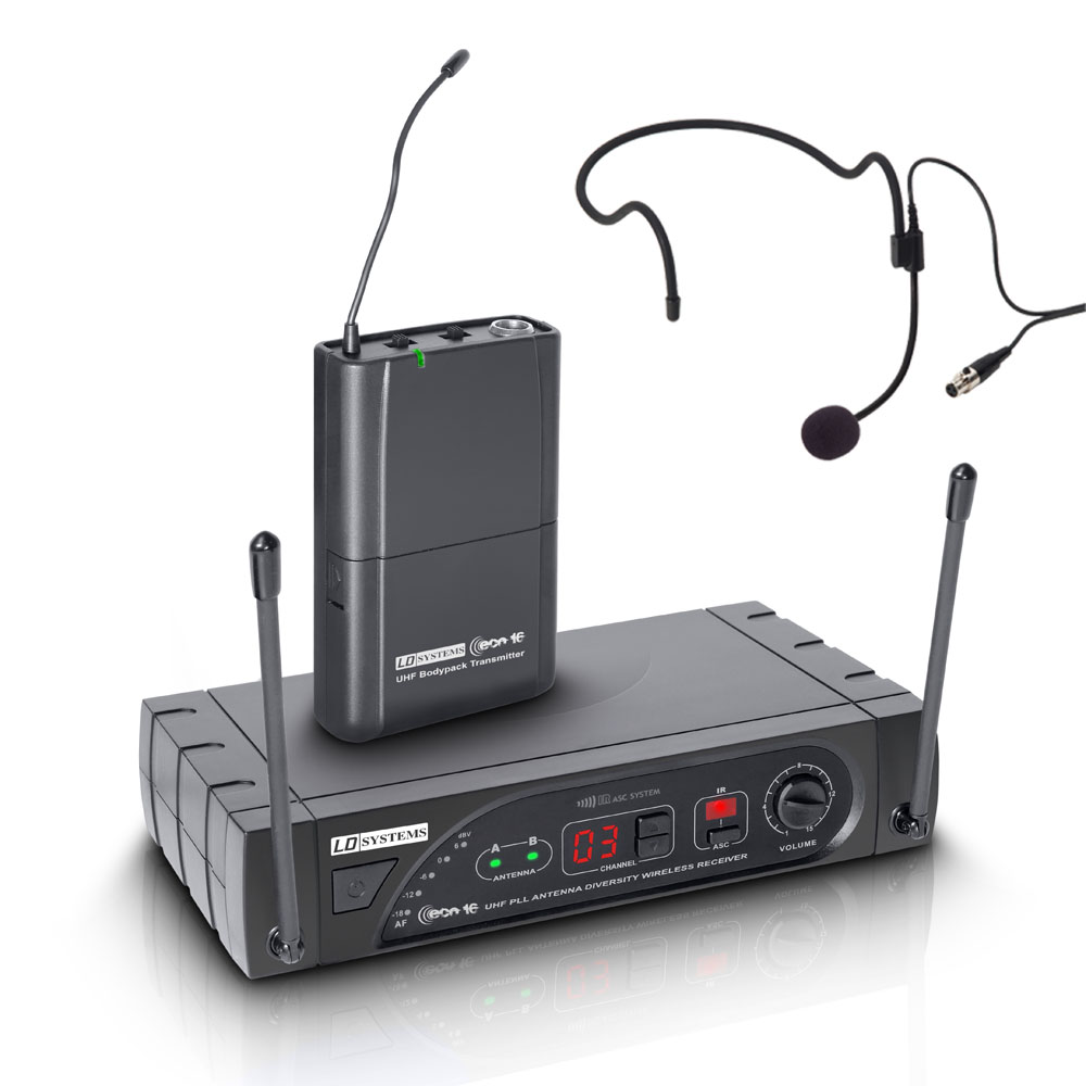 Micro sans Fil avec Micro serre tête LD Systems ECO 16 Bande 5