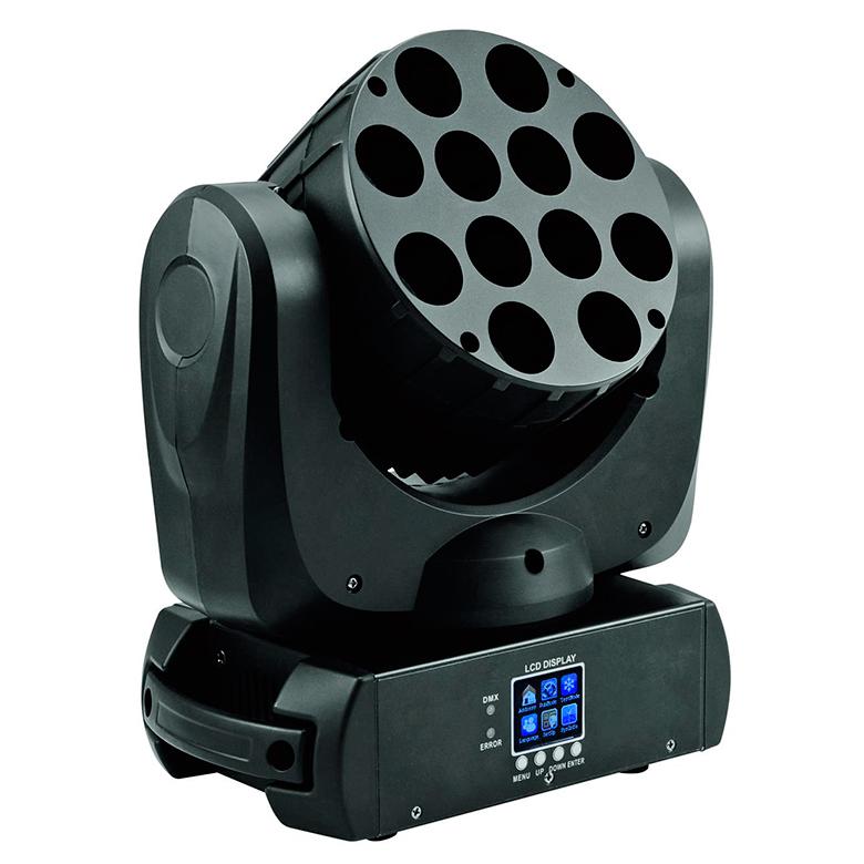 Lyre Beam Acilite LED 12x10W RGBW 15 canaux DMX