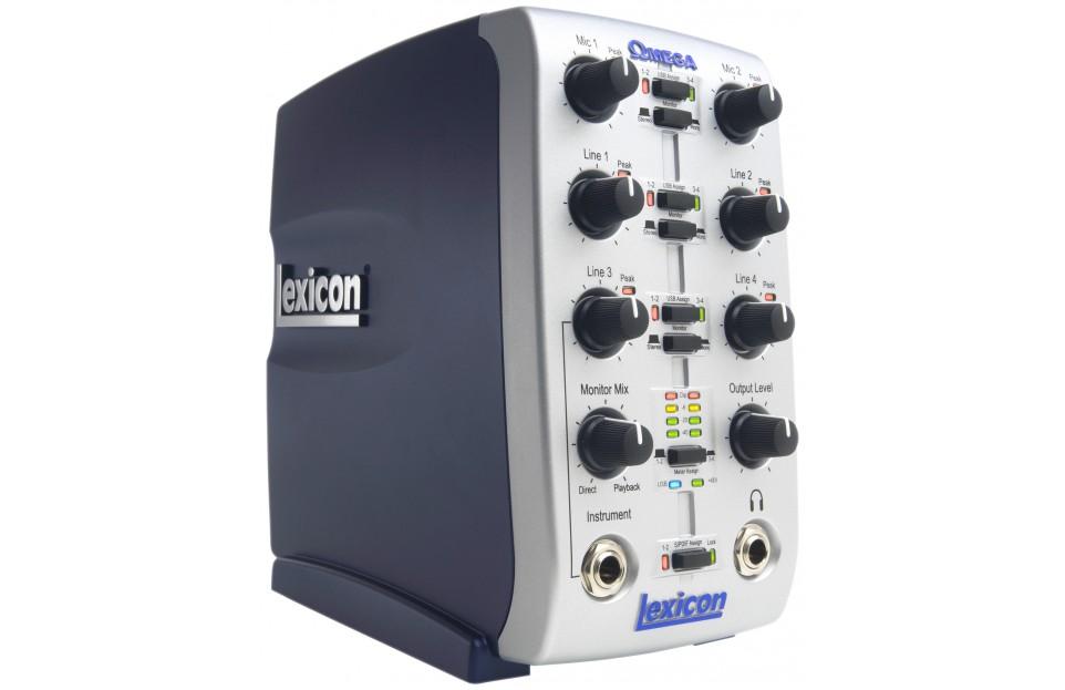 Interface audio Lexicon Omega USB, 8 entrées, 2 sorties, 4 bus