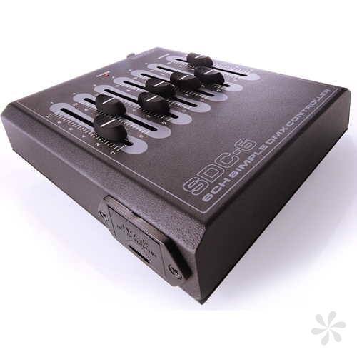 Jeu d'orgue DMX BOTEX SDC 6 canaux pile ou secteur