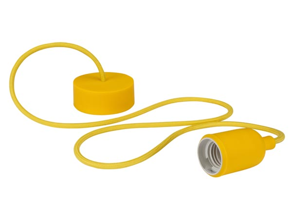 livraison gratuite luminaire suspension en cordage velleman douille e27 jaune suspensions prozic. Black Bedroom Furniture Sets. Home Design Ideas