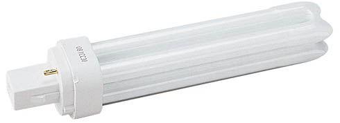 Ampoule éco fluocompacte SYLVANIA Lynx D G24d-1 13W 827 code 0025905