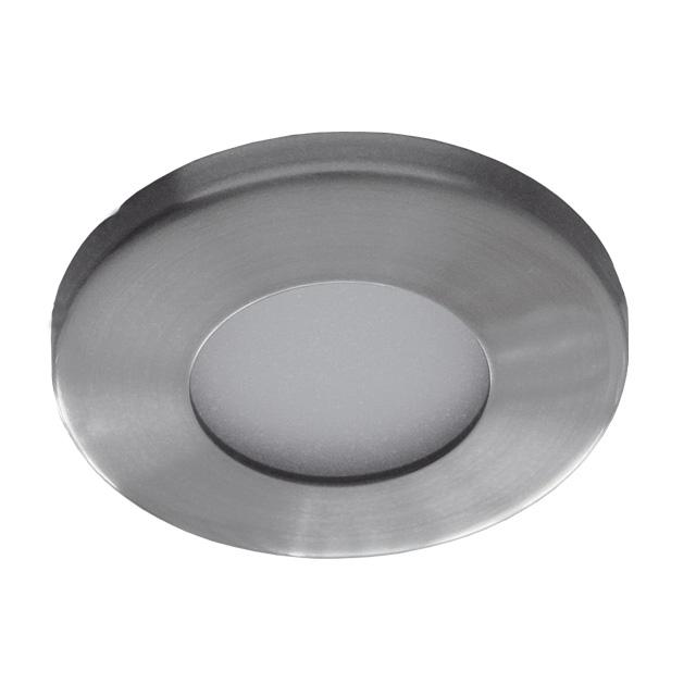 Plafonnier étanche IP44 nikel satiné pour dichro 50mm
