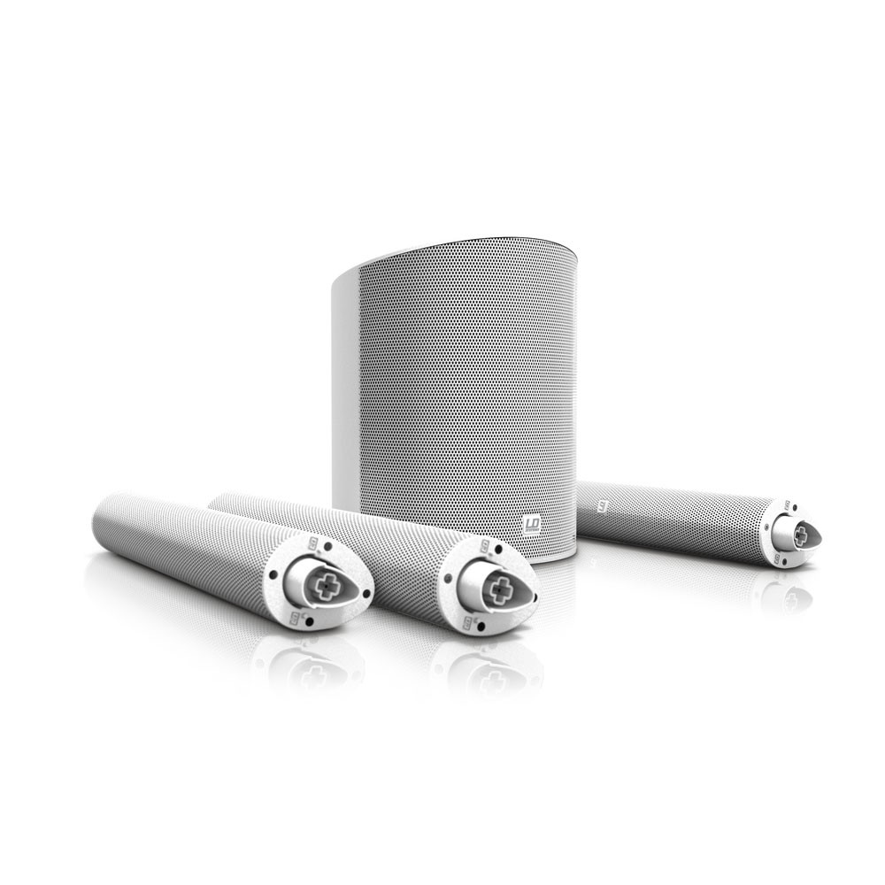 Sono Colonne LD Systems MAUI 5 Blanc Mixeur et bluetooth Intégré