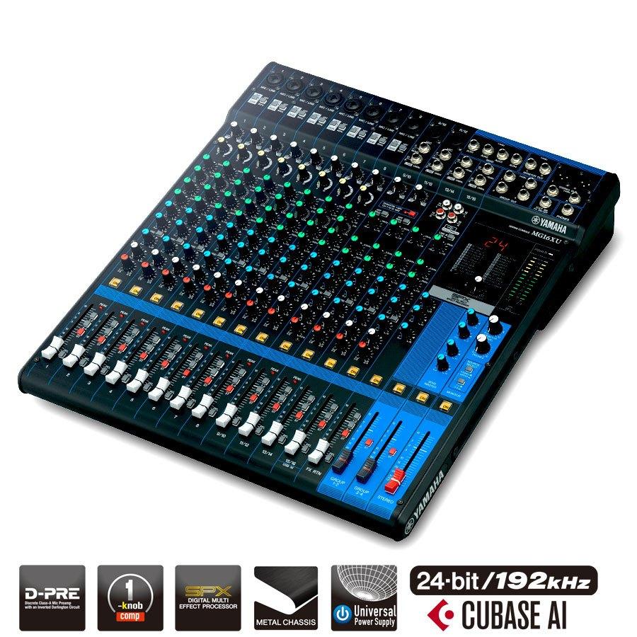 Livraison gratuite table de mixage yamaha mg16xu effets usb consoles analogiques prozic - Table de mixage yamaha usb ...
