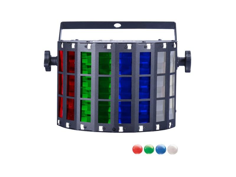 Effet Led - Power Lighting - MINI MEGA LED ST - 4x3W - RGBW + 16 leds Strobe