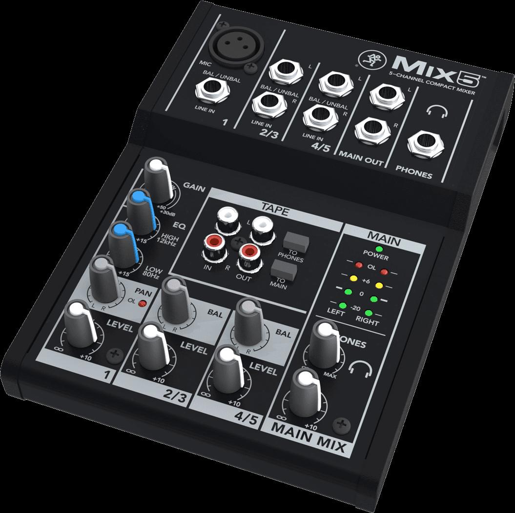 Mixage analogique Mackie MIX5 5 canaux