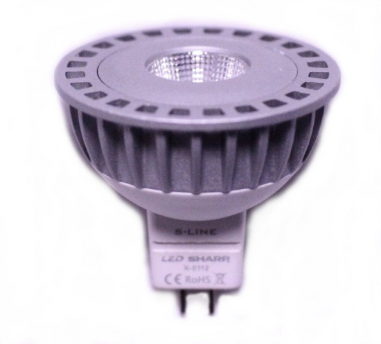 Ampoule Beneito Faure MR16 à led SHARP GU5.3 12V 6W blanc Chaud 2700K  60°