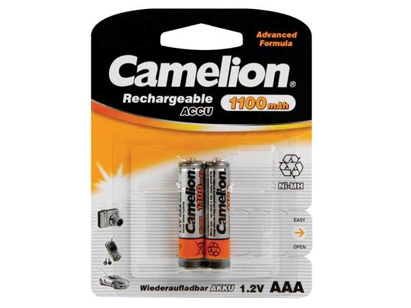 Blister de 2 accus rechargeables NIMH LR3 1,2V 1100mAh