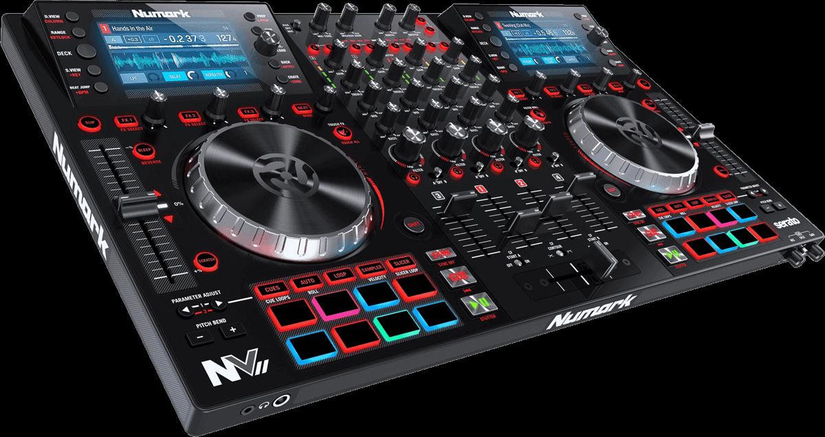 Contrôleur DJ NUMARK NVII 4 voies 16 pads carte son et 2 écrans
