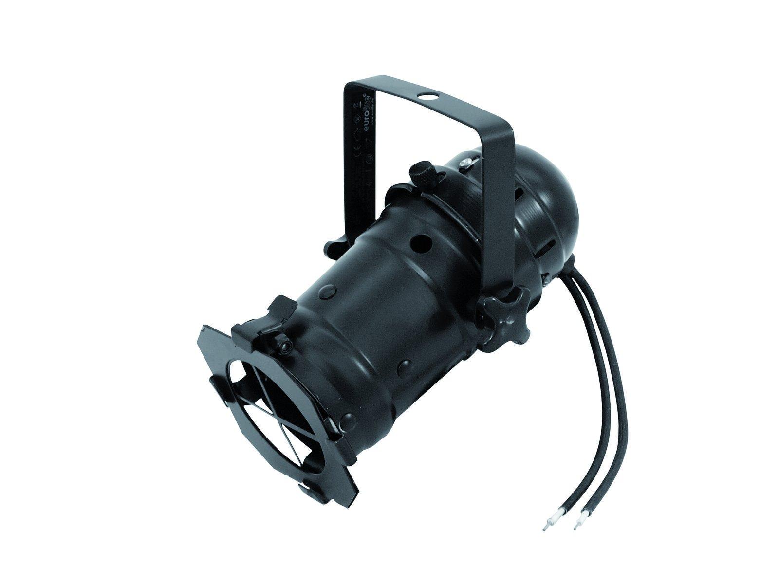 Projecteur PAR 16 noir EUROLITE sans alimentation Pour lampe gu5.3