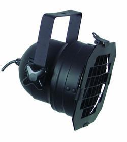 Projecteur PAR 56 noir court sans lampe avec porte filtre