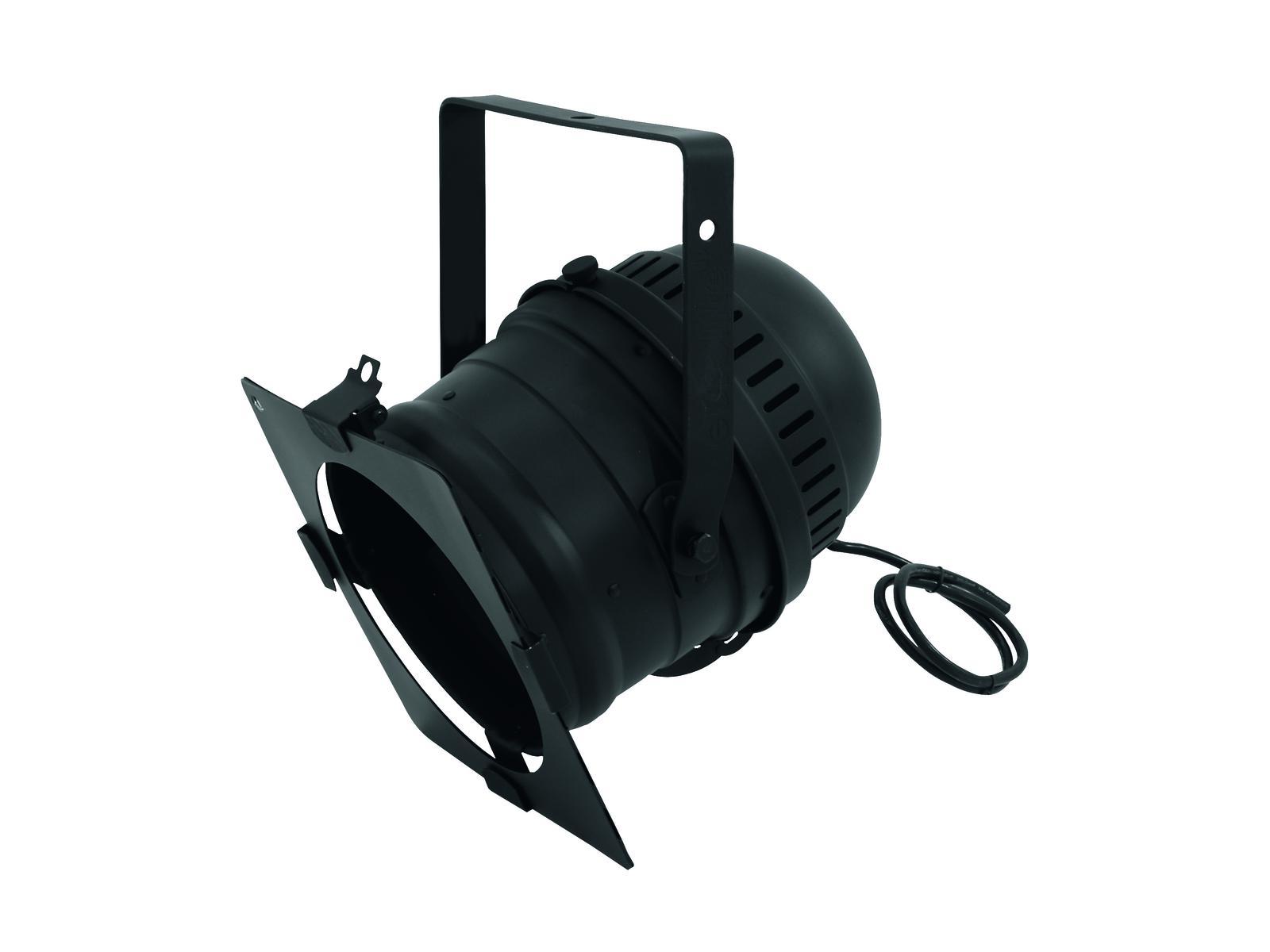 livraison gratuite projecteur par 64 noir court sans lampe. Black Bedroom Furniture Sets. Home Design Ideas