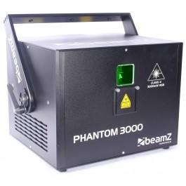 BeamZ Professional Phantom 3000 Pure Diode Laser RGB Analog 40kpps avec flightcase