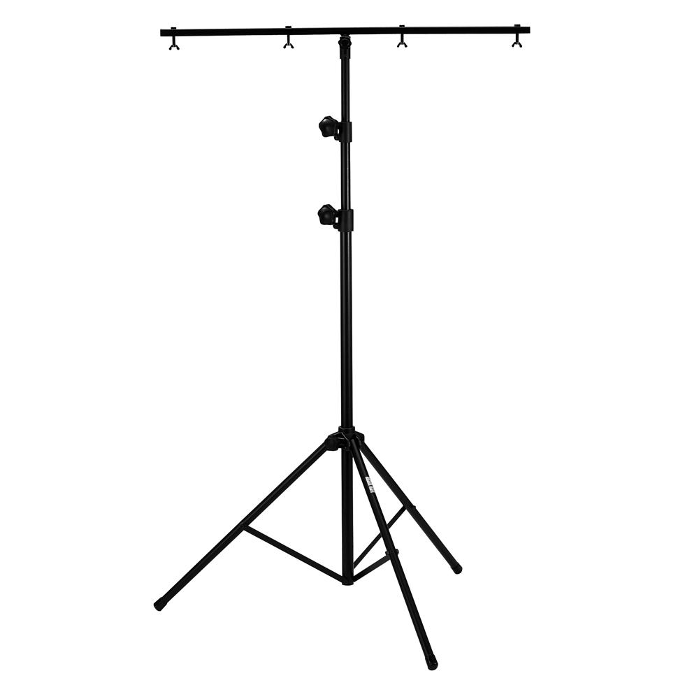 Pied d'éclairage hauteur max 2m70 charge 25kg avec barre en T