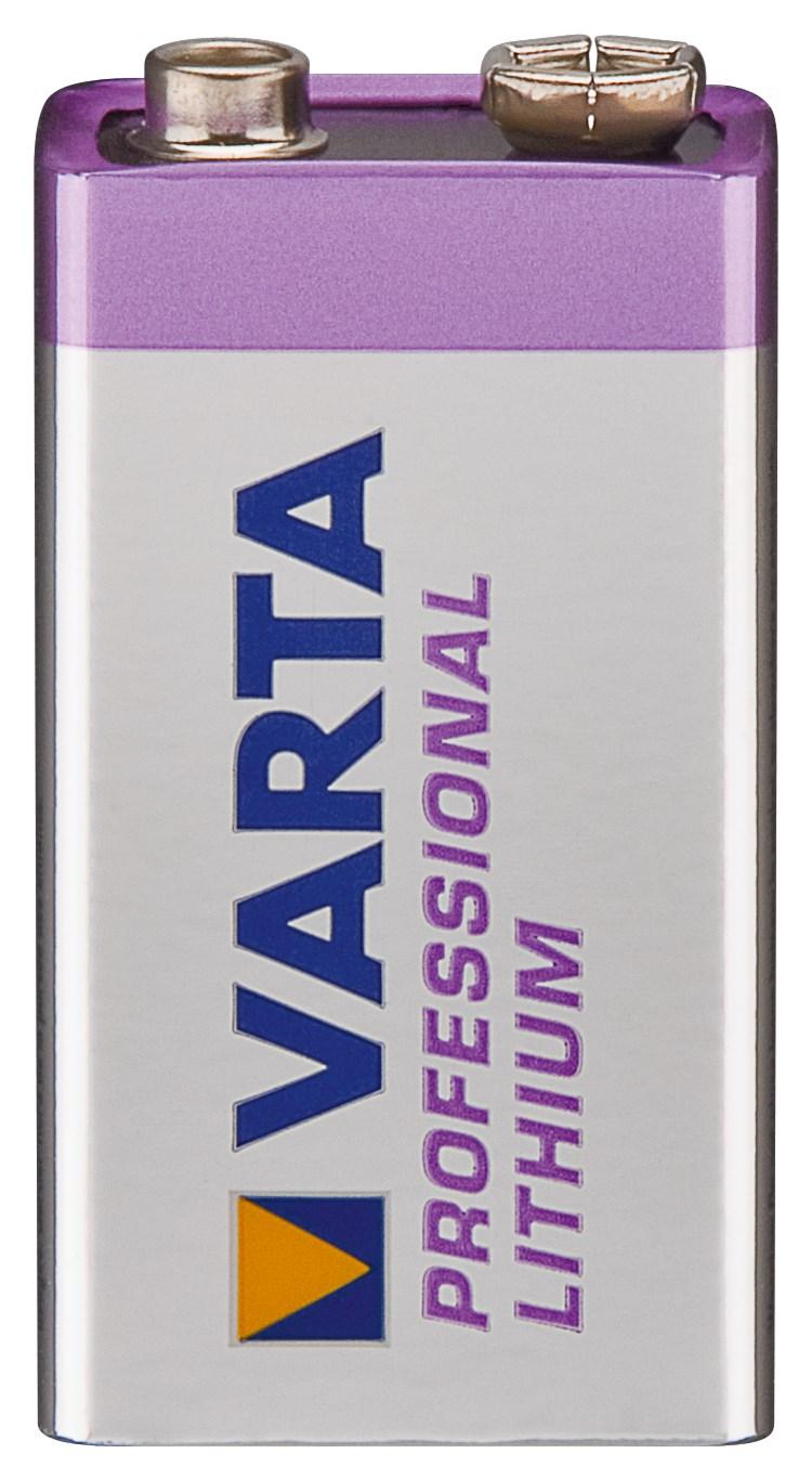 Pile 9V Lithium Varta 6F22 1,2 ah