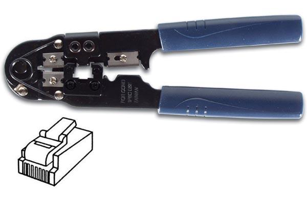 Pince à sertir pour connecteur RJ45 8P8C