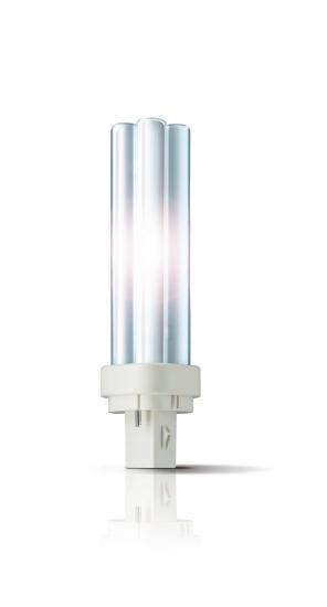 Ampoule éco fluocompacte Philips PL-C 2pin G24d-1 10W 827