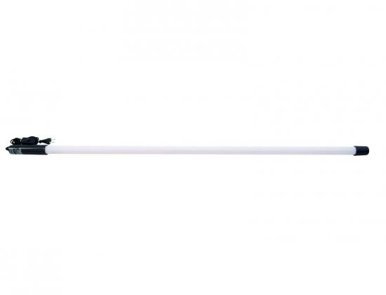 Tube fluorescent avec alimentation et interrupteur blanc 18W 70cm