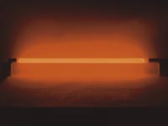 Tube fluorescent avec alimentation et interrupteur orange 36W 145cm
