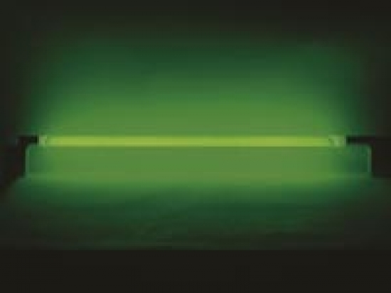 Tube fluorescent avec alimentation et interrupteur vert 36W 145cm