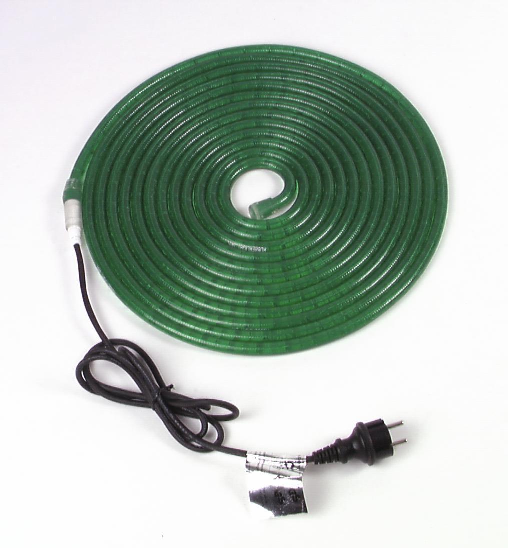 Flexible lumineux vert 9m avec prise secteur