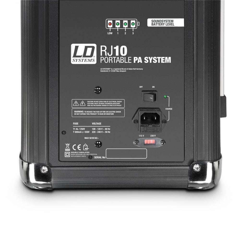 livraison gratuite sonorisation portable bluetooth sur batterie ld systems roadjack 10. Black Bedroom Furniture Sets. Home Design Ideas