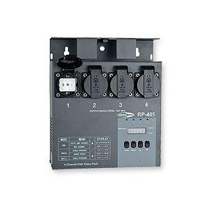 Bloc de puissance 4 canaux DMX SHOWTEC RP405 Switch -Tout ou rien- à relais