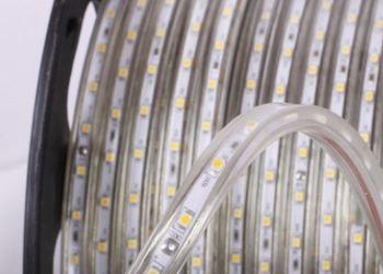 Ruban de LED 230V IP68 Blanc froid 6500K 60 led/m prix au mètre