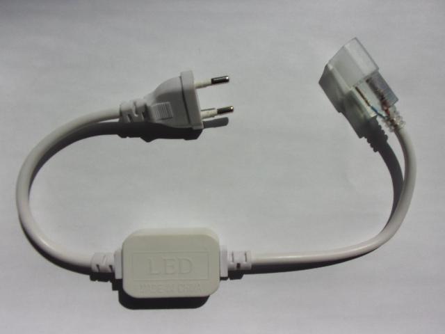 Cordon d'alimentation pour ruban de led 230V monocouleur