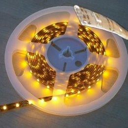 Ruban LED 24V Blanc Chaud 60 LEDS 5050 750 lumens par metre IP65 Rouleau de 5m