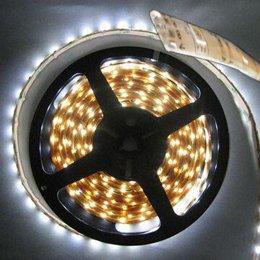 Ruban LED 24V Blanc Froid 60 LEDS 5050 900 lumens par metre IP65 Rouleau de 5m