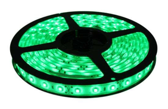 Ruban LED 12V VERT 60 LEDs et led 5050 haute luminosité IP65 Rouleau de 5m