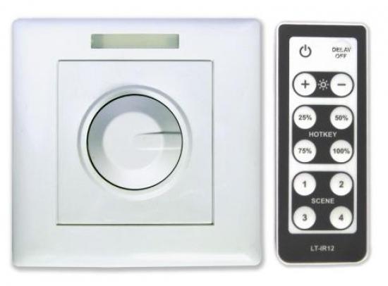 livraison gratuite variateur pour ruban led manuel et ou t l commande accessoires rubans a led. Black Bedroom Furniture Sets. Home Design Ideas