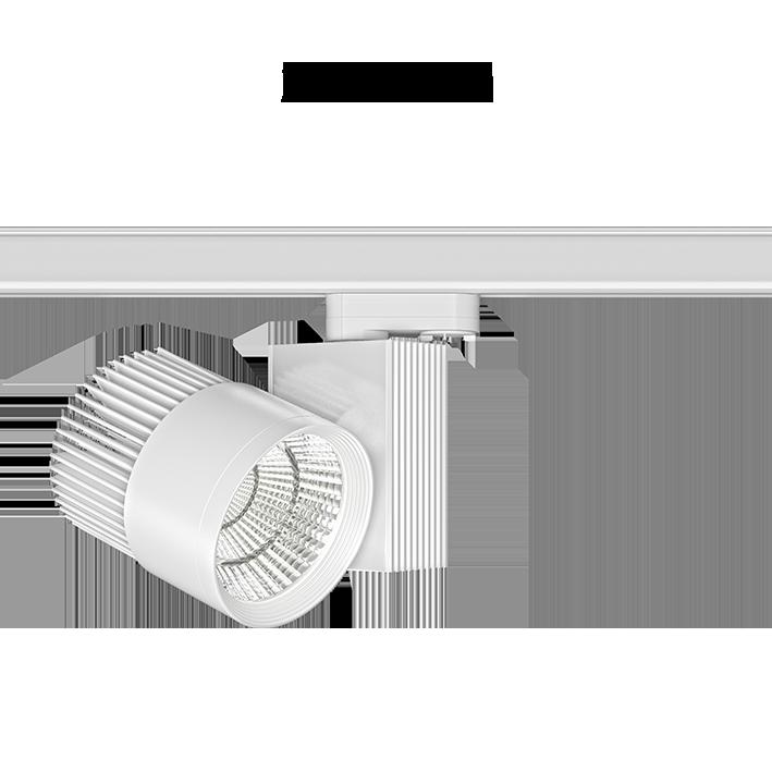 Projecteur led pour rail 3 circuits Beneito et faure Rum 33W 50° 3000K blanc