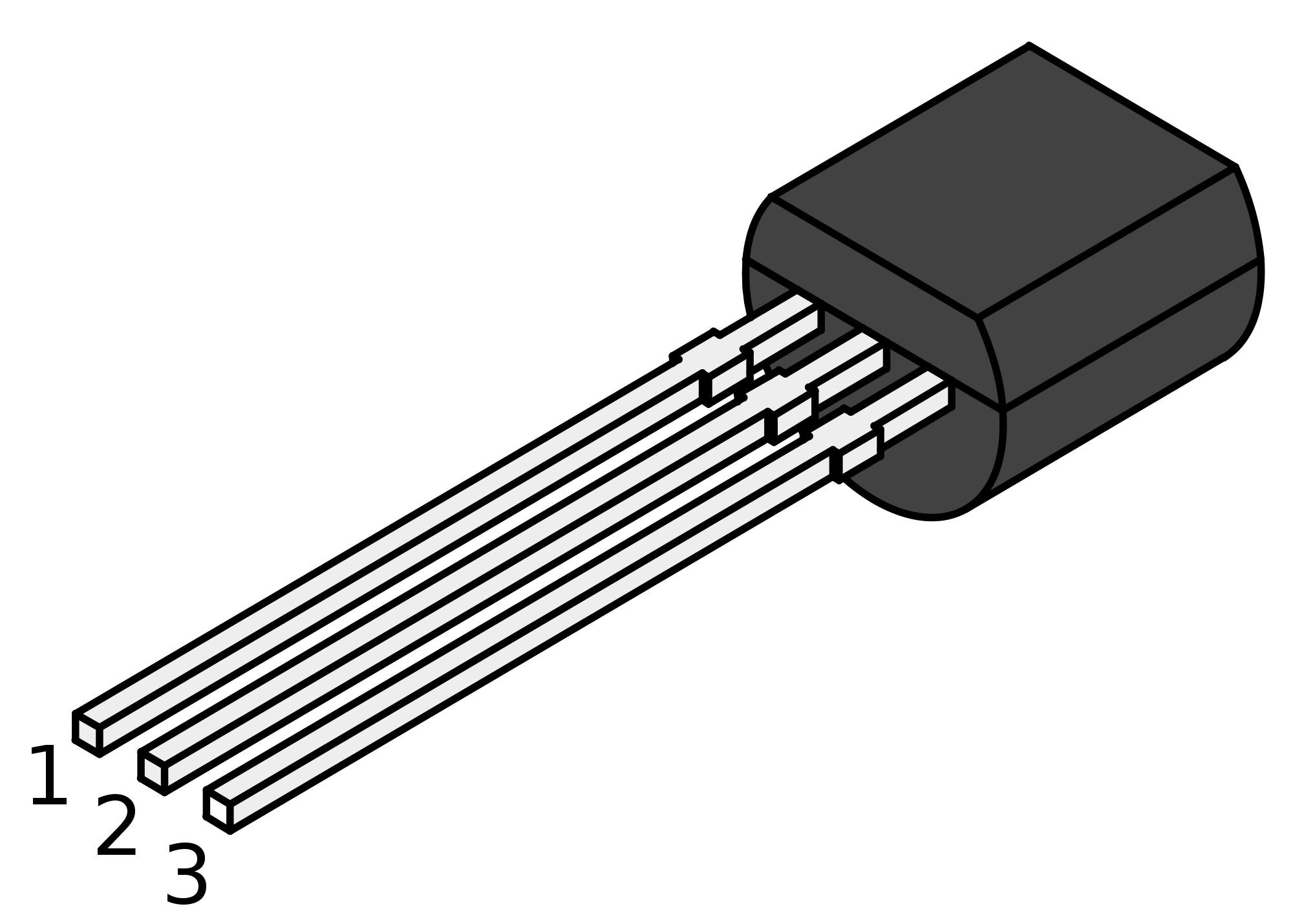 Transistor PN2222A NPN 40V 1A TO-92